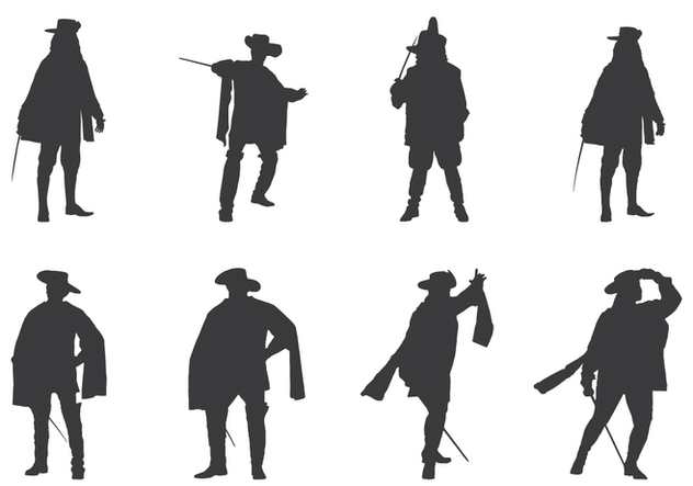 Royal Musketeers Silhouettes - vector gratuit #445297