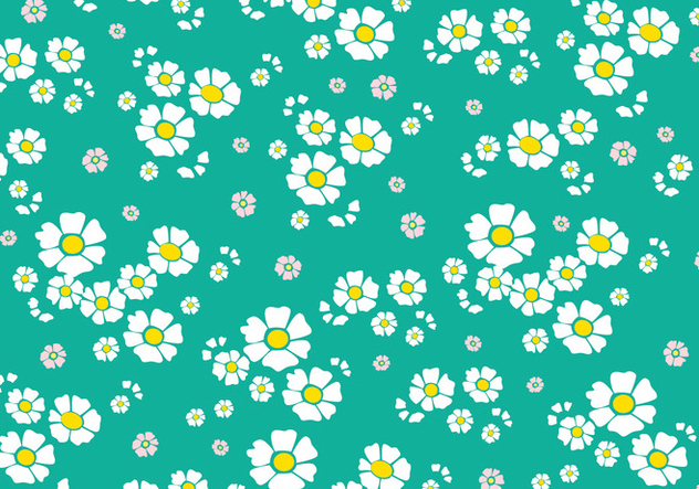 Floral Seamless Pattern - vector gratuit #445317