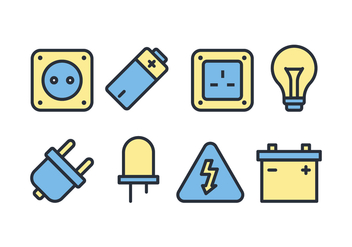 Electric Accessories Icon Pack - vector gratuit #445337