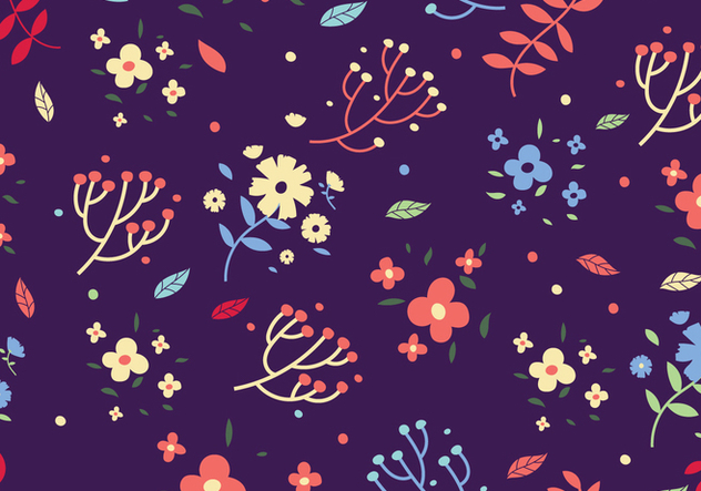 Free Floral Ditsy Print Vector Background - бесплатный vector #445347