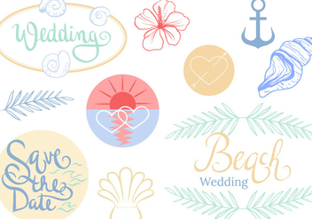 Free Beach Wedding Vectors - бесплатный vector #445447