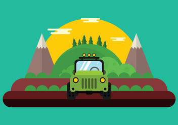 Off Road Jeep - Kostenloses vector #445477