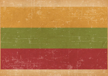 Grunge Flag of Lithuania - vector #445487 gratis