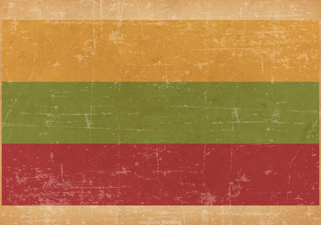 Grunge Flag of Lithuania - Kostenloses vector #445487