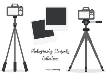 Vector Tripod with Cameras Collection - Free vector #445517