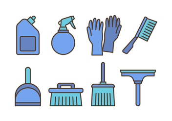 Cleaning Icon Pack - Free vector #445537