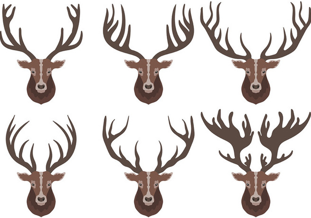 Caribou Vector Icons - бесплатный vector #445557