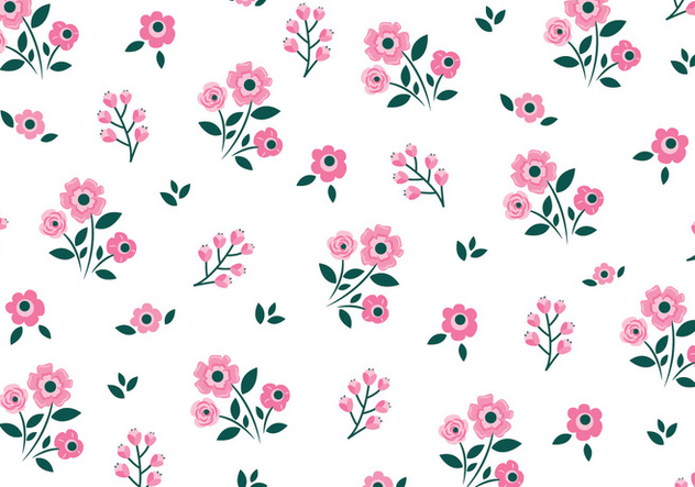 Floral Seamless Pattern - vector gratuit #445567