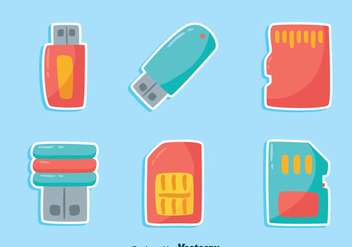 NIce Card Reader Element Icons Vector - vector gratuit #445587