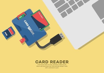 External Card Reader Illustration - бесплатный vector #445617