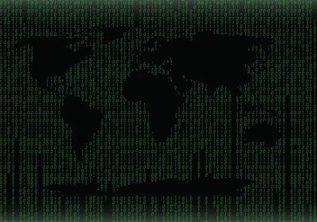 Green World Map Matrix Background Vector - Free vector #445627