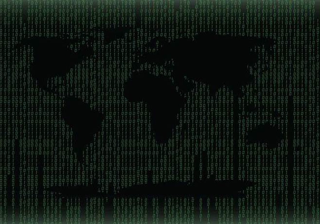 Green World Map Matrix Background Vector - Kostenloses vector #445627