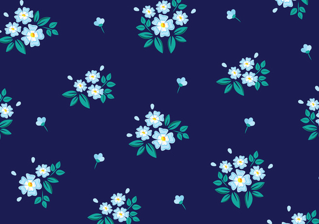 Floral Seamless Pattern - vector gratuit #445637