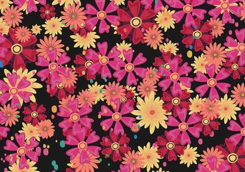 Floral Ditsy Vector Pattern - Free vector #445647
