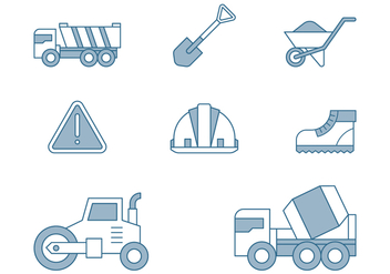 Road Repair Icons - vector gratuit #445697