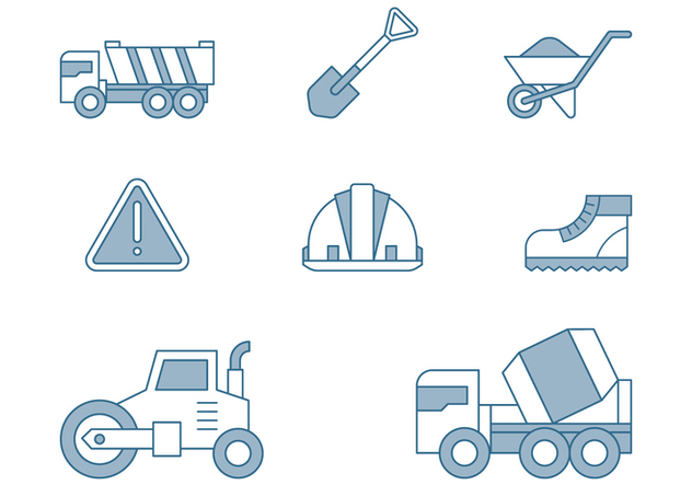 Road Repair Icons - vector #445697 gratis
