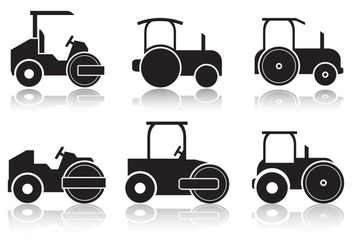 Road Roller Icon - vector #445707 gratis