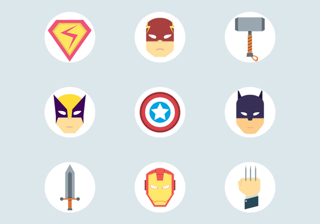 Super Hero Icons - Free vector #445717