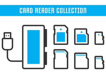 Card Reader Collection - бесплатный vector #445727