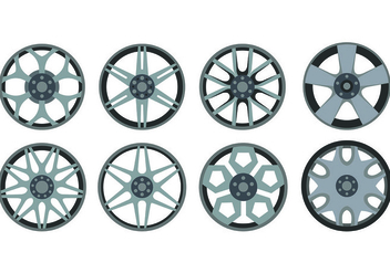 Icon Of Alloy Wheels - vector gratuit #445737