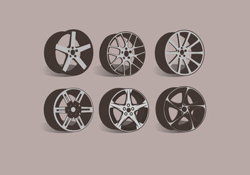 Alloy Wheels Side View Vector - Kostenloses vector #445797