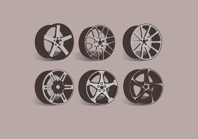 Alloy Wheels Side View Vector - Free vector #445797