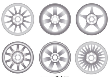 Alloy Wheels On White Vector - Free vector #445807