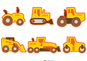 Nice Construction Machine Collection Vector - Free vector #445817