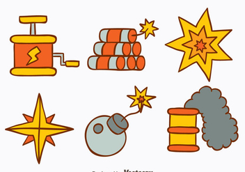 Hand Drawn Demolition Tools Vectors - Free vector #445827