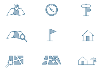 Map Symbol Icon - vector #445847 gratis