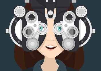Eye Test Illustration - vector #445877 gratis