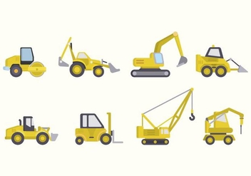 Flat Constructions Machine Vectors - Free vector #445887