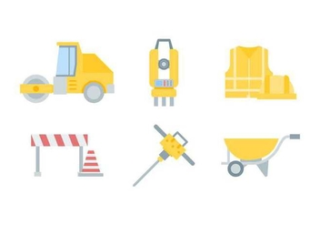 Free Outstanding Road Construction Vectors - vector gratuit #445897