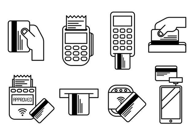 Card Reader Vector Icons - vector #445917 gratis