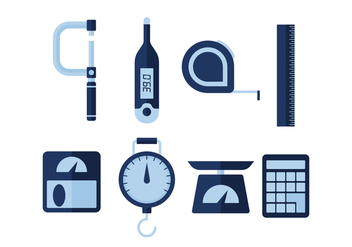 Free Measuring Tools Vector Icons - vector #445927 gratis