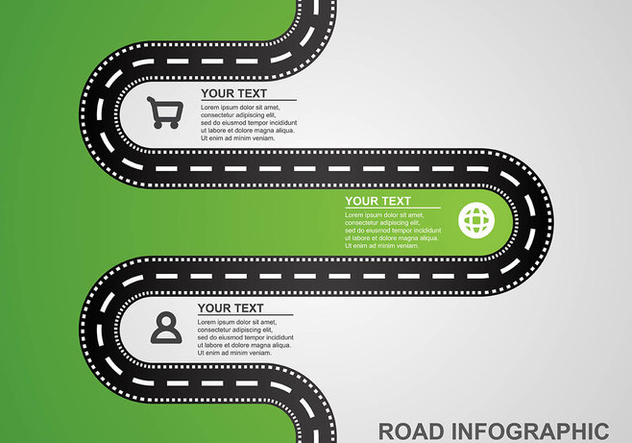 Roadmap Infographic Vector - бесплатный vector #445947