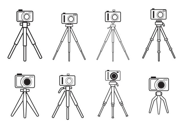 Camera Linear Tripod Set - Free vector #445957