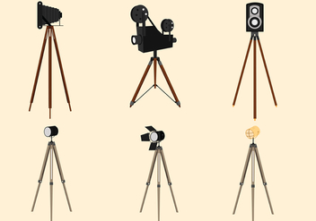 Vintage Tripod Vector Pack - Free vector #445977