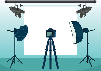 Photo Studio Vector Illustration - Free vector #446017