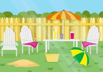 Free Summer Garden Party Background vector - Free vector #446067