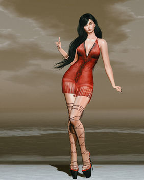 Jane Fringe mini dress by United Colors @ Kustom9 - Free image #446117