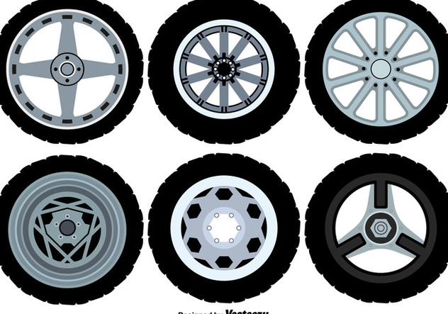 Vector Alloy Wheels Icons - Free vector #446287