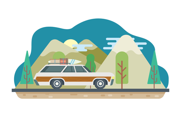 Road Trip Illustration - vector gratuit #446297