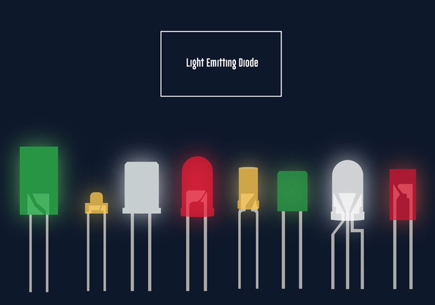Led Lights Vector Pack - vector gratuit #446307
