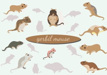 Gerbil Mouse vector Pack - Kostenloses vector #446367