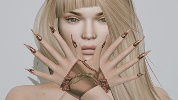 Ombre Mesh Nails by SlackGirl @ The Makeover Room & Octavia Bento Gloves by Masoom @ Mesh Body Addicts Fair - Free image #447517