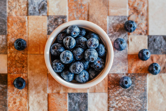 Bowl of Blueberries - Free image #450597