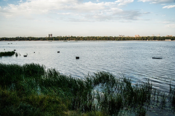 Dniper riverbank with lush meadow - бесплатный image #451087