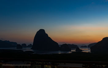 Sunrise over the Phang Nga Bay, Thailand XOKA4579s2 - бесплатный image #451637