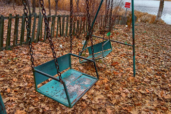 old blue Swing - image gratuit #451757